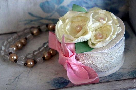 Подарки для влюбленных ручной работы. Ярмарка Мастеров - ручная работа. Купить Коробочка для кольца. Handmade. Бледно-розовый, шкатулка, помолвка