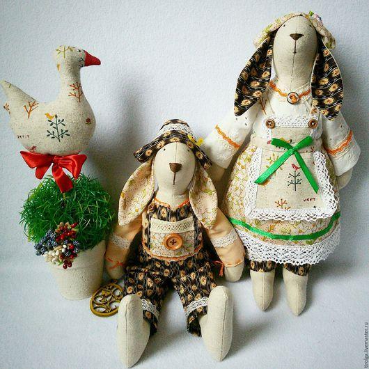 Куклы Тильды ручной работы. Ярмарка Мастеров - ручная работа. Купить Семейная пара Примеры работ. Handmade. Лимонный, Пасха