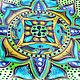 Mandala with tassels 'Emerald' decorative plate. Plates. Art by Tanya Shest. My Livemaster. Фото №6