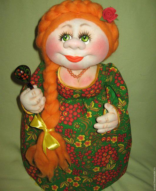Кухня ручной работы. Ярмарка Мастеров - ручная работа. Купить Кукла-грелка на чайник. Маруся. Handmade. Зеленый