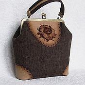 Сумки и аксессуары handmade. Livemaster - original item Bag with clasp: Bag ladies