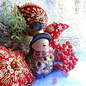 Подарки к праздникам ручной работы. Ярмарка Мастеров - ручная работа РОЖДЕСТВЕНСКАЯ НОЧЬ игрушки на елку с вышивкой. Handmade.