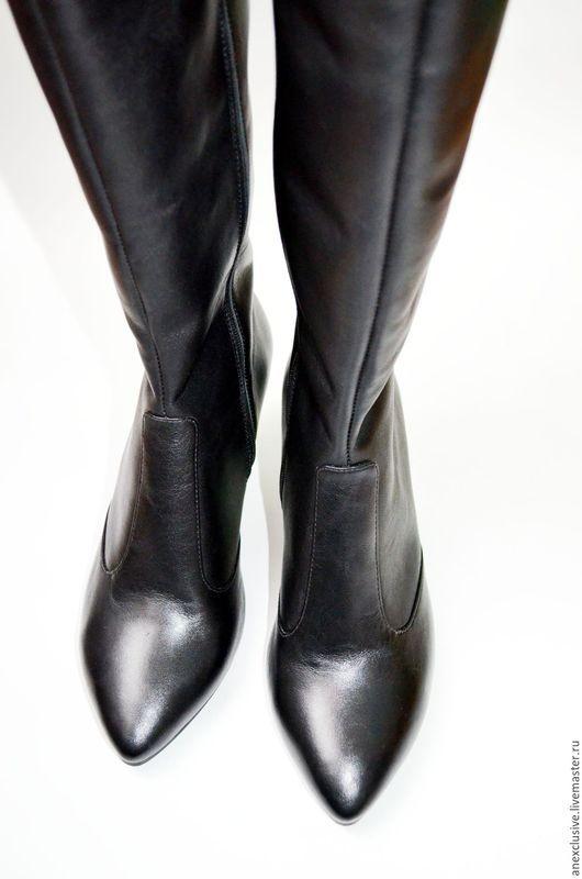 """Обувь ручной работы. Ярмарка Мастеров - ручная работа. Купить Сапоги """"Классика"""". Handmade. Комбинированный, женские сапоги, обувь на заказ"""