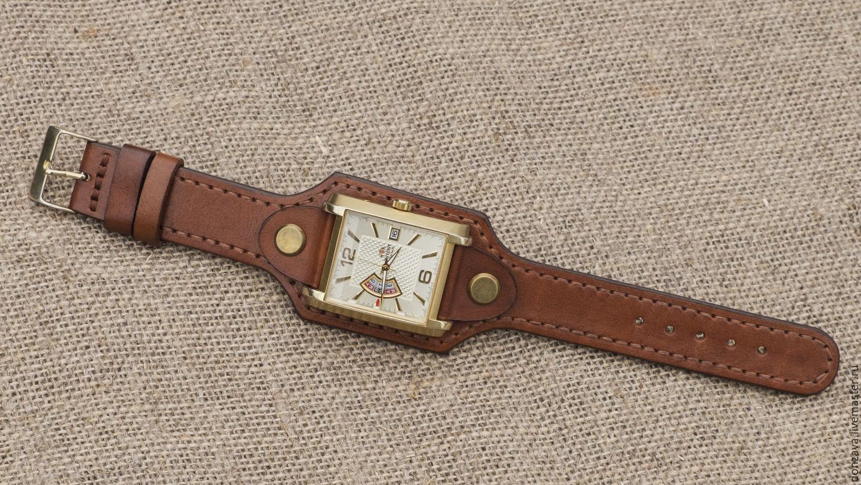 Кожаный браслет для часов своими руками 80