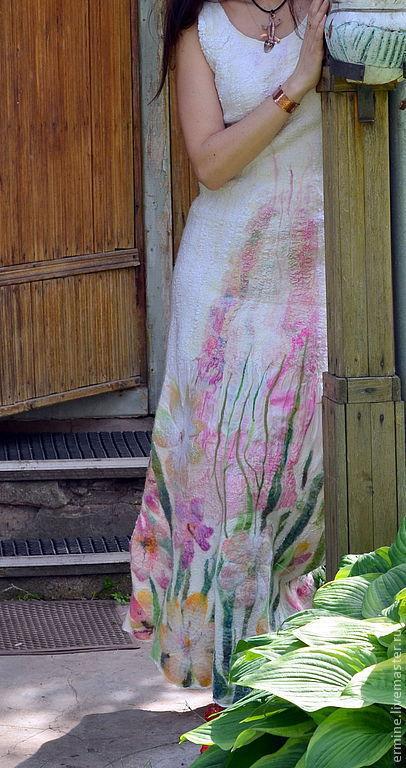 """Платья ручной работы. Ярмарка Мастеров - ручная работа. Купить платье   """" Flower"""". Handmade. Белый, свадебное платье, Валяние"""