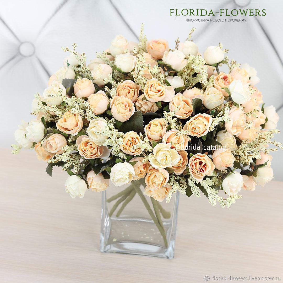 Розы искусственные кустовые l Арт 2182, Цветы, Санкт-Петербург, Фото №1