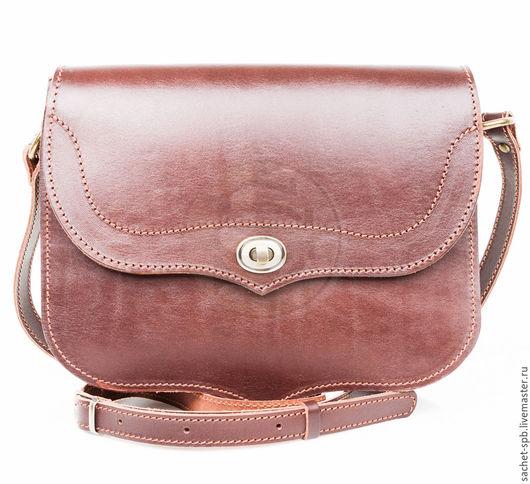 """Женские сумки ручной работы. Ярмарка Мастеров - ручная работа. Купить Женская кожаная сумка """"Виола"""" темно- коричневая. Handmade."""