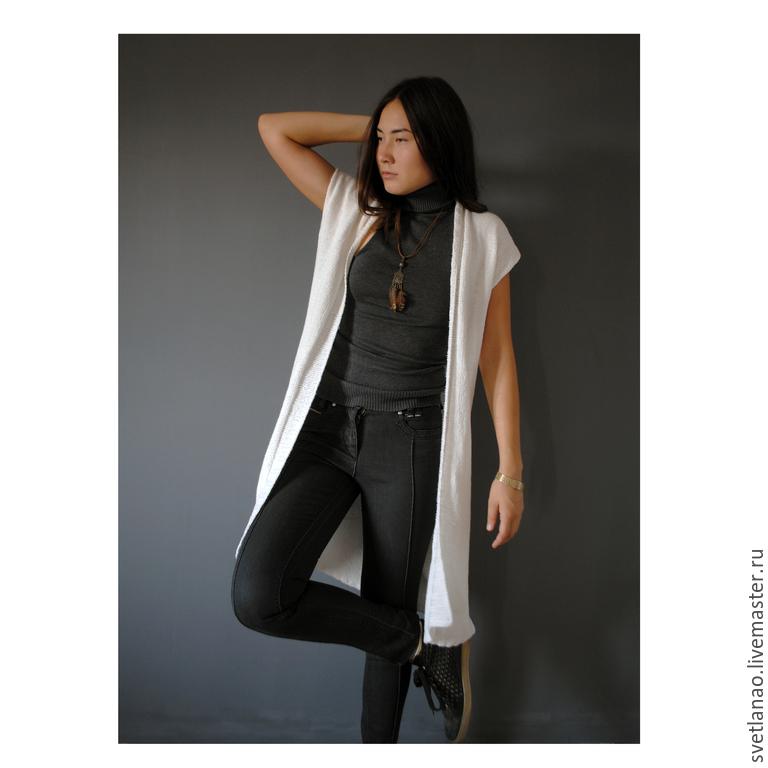 Cardigan, tunic, vest 'LACONIC' of Italian yarn, Cardigans, Ulan-Ude,  Фото №1