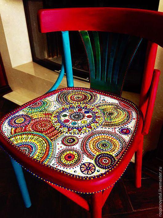 Мебель ручной работы. Ярмарка Мастеров - ручная работа. Купить Мандалы. Handmade. Разноцветный, Ручная роспись по дереву, венский стул