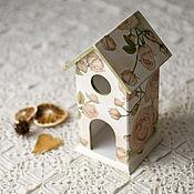 Для дома и интерьера ручной работы. Ярмарка Мастеров - ручная работа чайный домик с кремовыми розами. Handmade.