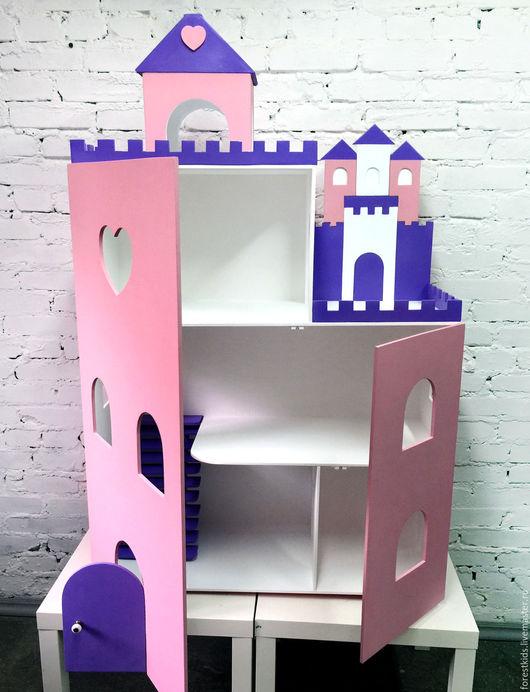 Кукольный дом ручной работы. Ярмарка Мастеров - ручная работа. Купить Домик замок. Handmade. Сиреневый, кукольный домик купить
