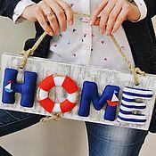 Для дома и интерьера ручной работы. Ярмарка Мастеров - ручная работа Табличка HOME. Handmade.