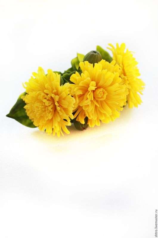 """Заколки ручной работы. Ярмарка Мастеров - ручная работа. Купить Заколка """"Одуванчики"""". Handmade. Желтый, одуванчики, украшение для фотосессии"""