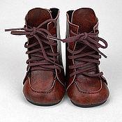 Материалы для творчества handmade. Livemaster - original item Accessories for dolls and toys: Boots for dolls 7 cm. Handmade.