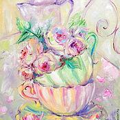 Картины и панно handmade. Livemaster - original item Oil painting on canvas, 35/50. Shabby morning.. Handmade.