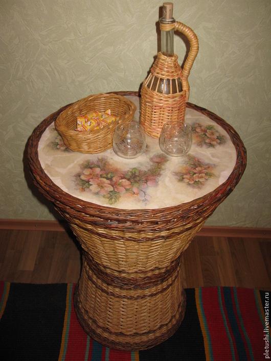 Мебель ручной работы. Ярмарка Мастеров - ручная работа. Купить Плетеный стол. Handmade. Разноцветный, для дачи, лак акриловый