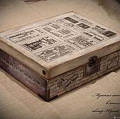 """Шкатулки ручной работы. Ярмарка Мастеров - ручная работа Мужская шкатулка """" STAMP"""" для кальянного табака, часов. Handmade."""