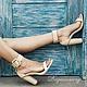 Обувь ручной работы. Ярмарка Мастеров - ручная работа. Купить Босоножки из натуральной кожи питона. Handmade. Бежевый, Кожаные босоножки