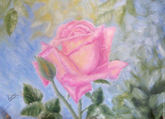 Картины цветов ручной работы. Ярмарка Мастеров - ручная работа. Купить Роза. Handmade. Розовый, картина маслом, картина в подарок