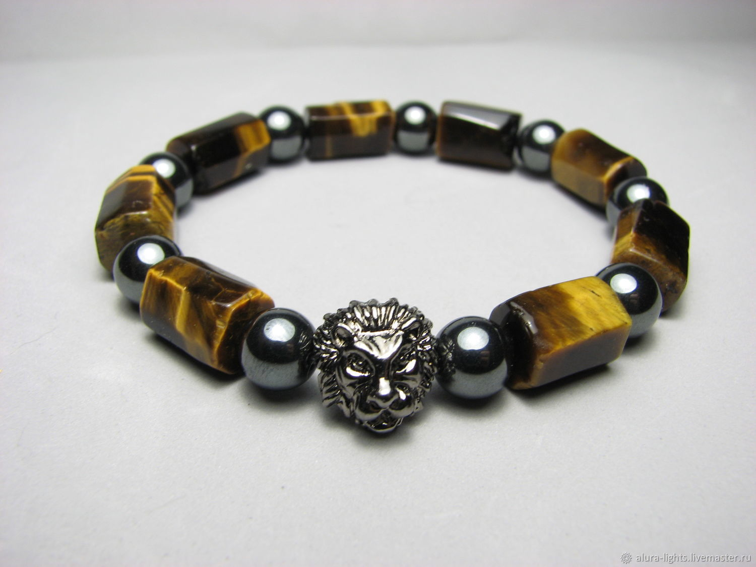 Bracelet with tiger eye and hematite ' Your lion', Bead bracelet, Moscow,  Фото №1