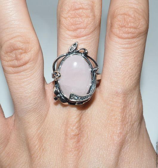"""Кольца ручной работы. Ярмарка Мастеров - ручная работа. Купить Кольцо """"Noktali"""" розовый кварц, серебро 925 пробы. Handmade."""