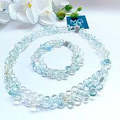 Украшения handmade. Livemaster - original item Necklace and bracelet made of natural beryl. Handmade.