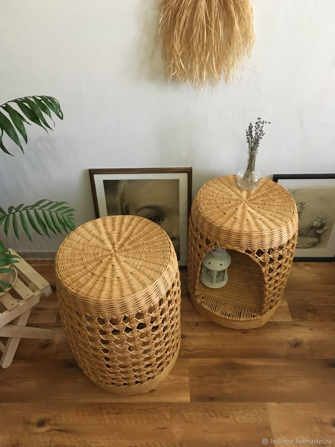 Wicker furniture, bedside table, coffee table, Interior elements, Astrakhan,  Фото №1