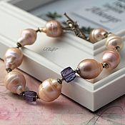 Украшения handmade. Livemaster - original item Large Baroque pearl bracelet