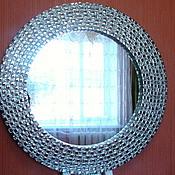 Для дома и интерьера ручной работы. Ярмарка Мастеров - ручная работа Зеркало в мозаичной раме, серебряное. Handmade.
