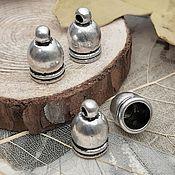 Материалы для творчества handmade. Livemaster - original item End cap 12x7x7 mm color antique silver (2854-C). Handmade.
