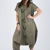 Одежда handmade. Livemaster - original item Green military-style jumpsuit-JP0140LE. Handmade.