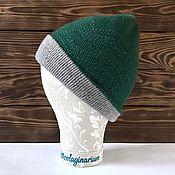 Аксессуары ручной работы. Ярмарка Мастеров - ручная работа Двойная удлиненная шапочка из кашемира. Handmade.