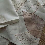 Винтажные предметы интерьера ручной работы. Ярмарка Мастеров - ручная работа Скатерть с листьями, винтаж. Handmade.