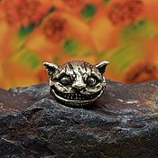 Материалы для творчества handmade. Livemaster - original item Cheshire Cat brass charm. Handmade.