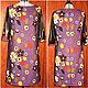 Большие размеры ручной работы. Платье А-силуэта с рукавами под кожу.(2). Home  Fashion  Studio ~GL~  (Елена). Интернет-магазин Ярмарка Мастеров.