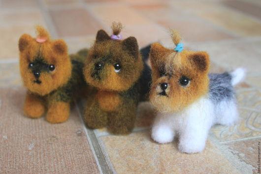Игрушки животные, ручной работы. Ярмарка Мастеров - ручная работа. Купить Валяная игрушка йорк мини. Handmade. Йорк
