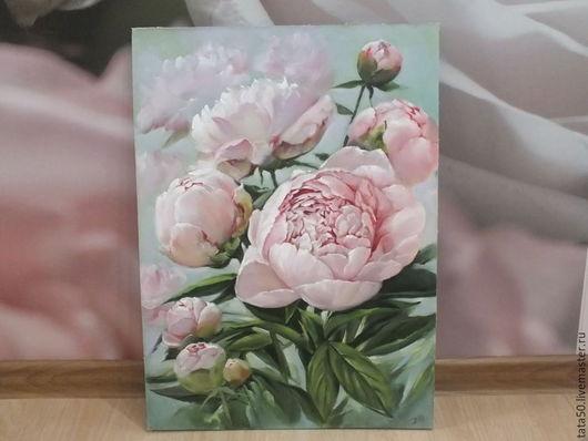 """Картины цветов ручной работы. Ярмарка Мастеров - ручная работа. Купить """" Нежность """". Handmade. Бледно-розовый"""