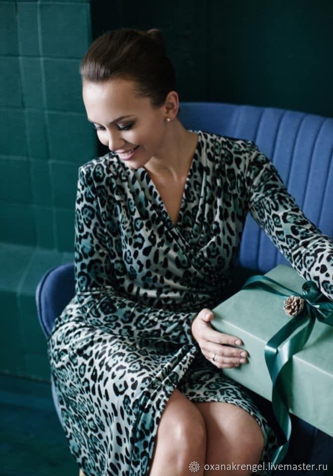 Бархатное леопардовое платье, Платья, Москва, Фото №1