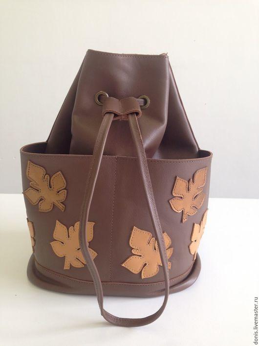 Рюкзаки ручной работы. Ярмарка Мастеров - ручная работа. Купить Рюкзак. Handmade. Коричневый, рюкзак для девушки, рюкзак кожаный
