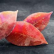 Украшения ручной работы. Ярмарка Мастеров - ручная работа ...Листопад...броши и заколки с осенними листьями. Handmade.