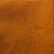 Материалы для творчества ручной работы. Ярмарка Мастеров - ручная работа Лён 100%. Горчичный яркий.. Handmade.