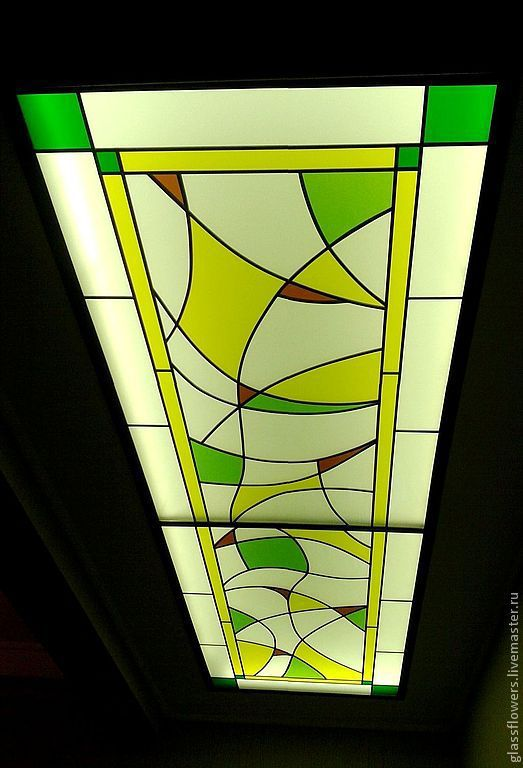 Abstraction. Ceiling Stained Glass, Stained glass, St. Petersburg, Фото №1