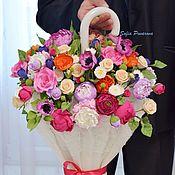 Цветы и флористика ручной работы. Ярмарка Мастеров - ручная работа Зонт в цветах. Handmade.