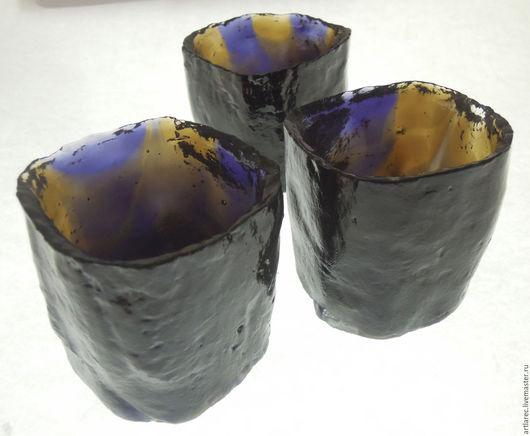 Рюмки ручной работы. Ярмарка Мастеров - ручная работа. Купить Стаканчики для крепкого алкоголя в стиле керамики Раку. Handmade. Раку