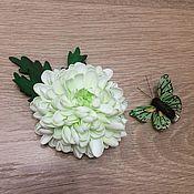 Украшения ручной работы. Ярмарка Мастеров - ручная работа Хризантема из фоамирана. Основание могу сделать любое.. Handmade.
