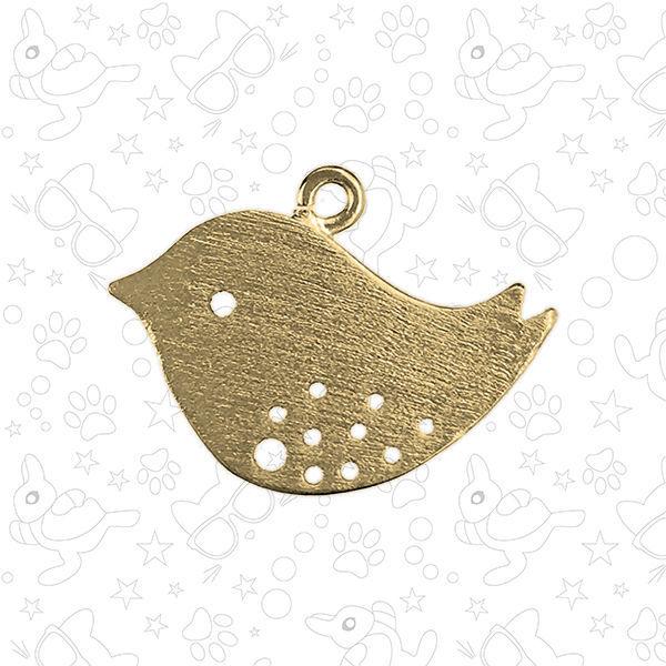 Подвеска декоративная птичка, матовое золото, Фурнитура, Москва,  Фото №1