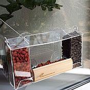 Дача и сад handmade. Livemaster - original item A bird feeder for window with suction cups