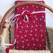 Материалы для творчества ручной работы. Ярмарка Мастеров - ручная работа Новогодняя  ткань красная веточки. Handmade.