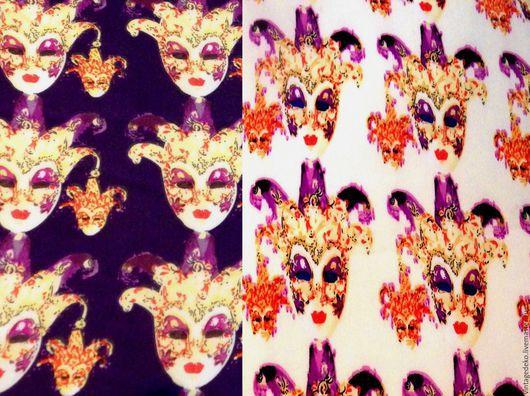 Шитье ручной работы. Ярмарка Мастеров - ручная работа. Купить Венецианские маски и драгоценности - два шелка-атласа. Handmade. Разноцветный