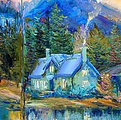 Картины и панно handmade. Livemaster - original item Triptych, mountain landscape